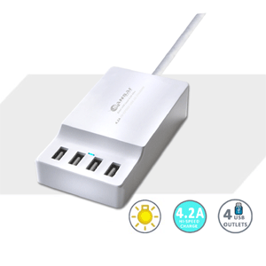 SANSAI 4.2A RAPID USB CHARGING STATION - TOP ENTRY