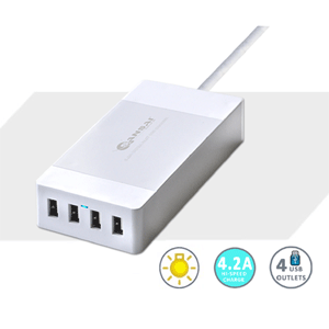 SANSAI 4.2A RAPID USB CHARGING STATION - SIDE ENTRY