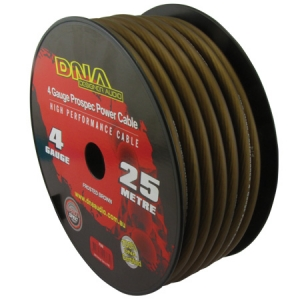 DNA 4 AWG POWER INSTALL CABLE BROWN - 25M