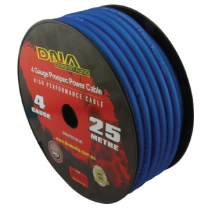 DNA 4 AWG POWER INSTALL CABLE BLUE - 25M