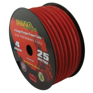 DNA 4 AWG POWER INSTALL CABLE RED - 25M