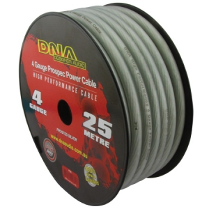 DNA 4 AWG POWER INSTALL CABLE SILVER - 25M