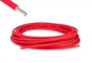WESTEC SINGLE 6mm AUTO CABLE RED  -  100M ROLL