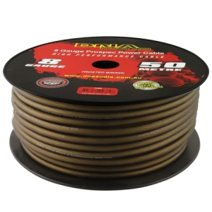 DNA 8 AWG POWER CABLE BROWN - 50M