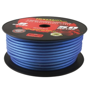 DNA 8 AWG POWER CABLE BLUE - 50M