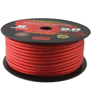 DNA 8 AWG POWER CABLE RED - 50M