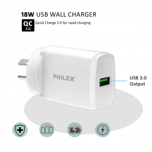 SANSAI 18W QC3.0 FAST CHARGE WALL CHARGER