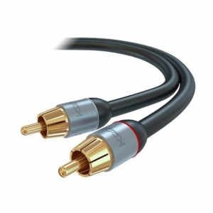 KORDZ PRO SHALLOW MOUNT STEREO RCA AUDIO LEAD - 1M