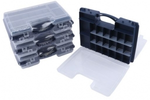 TACKLE BOX DOUBLE SIDED 32 COMPARTMENT ORGANISER TRAY