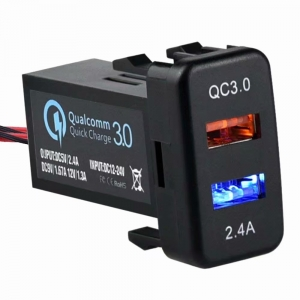 WESTEC QC3.0 DUAL USB FAST CHARGE FACTORY FIT TO SUIT LARGE TOYOTA