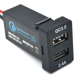 WESTEC QC3.0 DUAL USB FAST CHARGER FACTORY FIT TO SUIT SMALL TOYOTA