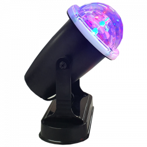 SANSAI AC OR BATTERY POWERED LED ROTATING PARTY LIGHT