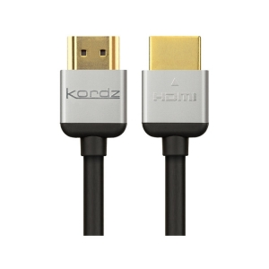 KORDZ R.3 HIGH SPEED WITH ETHERNET RACK DESIGNED FLEXIBLE HDMI CABLE - 2.4M