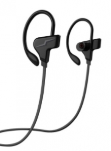 BLUEDIO CLIP-OVER SPORTS BLUETOOTH HEADPHONES - BLACK