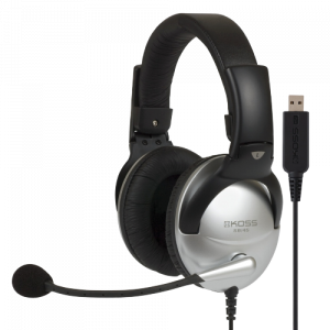 KOSS OVER-EAR USB HEADPHONES WITH BOOM MIC