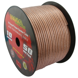 DNA 10 AWG SPEAKER CABLE CLEAR - 50M