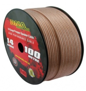 DNA 14 AWG SPEAKER CABLE CLEAR - 100M