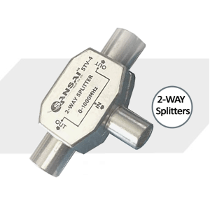 SANSAI 2-WAY HEAVY DUTY ANTENNA SPLITTER