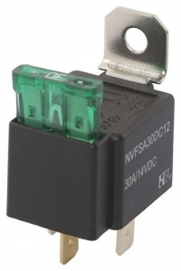 WESTEC 12V 30AMP AUTOMOTIVE 4-PIN RELAY WITH FUSE