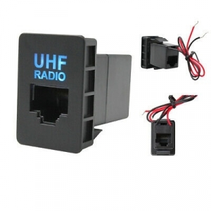 WESTEC UHF FACTORY FIT MIC SOCKET WITH ILLUMINATION TO SUIT SMALL TOYOTA