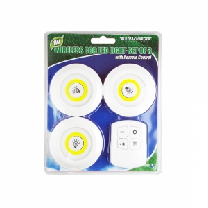 ULTRACHARGE REMOTE CONTROL LED LIGHT - SET OF 3