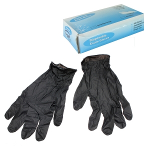 NITRILE GLOVES BLACK LARGE - PK100