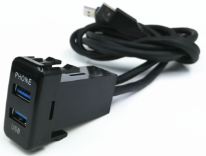 WESTEC FACTORY FIT DUAL USB3.0 TO SUIT LARGE TOYOTA - 1M