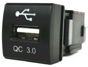 WESTEC FACTORY FIT QC3.0 USB CHARGER TO SUIT NEW SQUARE TOYOTA