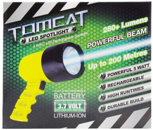 TOMCAT LED RECHARGEABLE 5W SPOTLIGHT