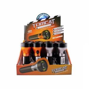 TOMCAT 1 WATT DUAL SPOT AND FLOOD LED TORCH - 12 PACK
